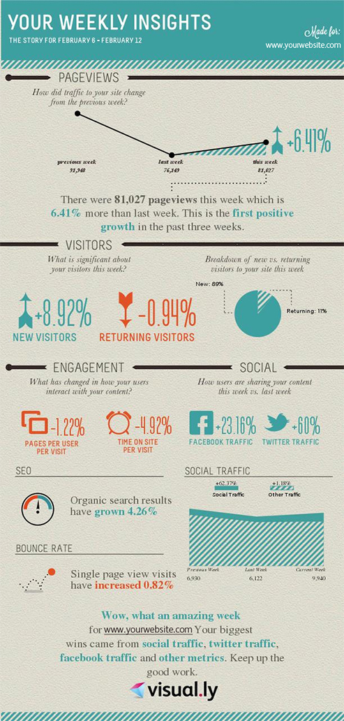 Gegevens Google Analytics in een infographic van Visually