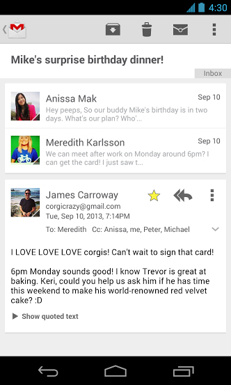 gmail_android_kaartenlayout