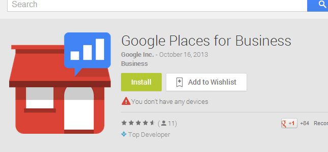 Google Places for Business voor Android