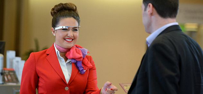 Virgin Atlantic gestart met proef Google Glass