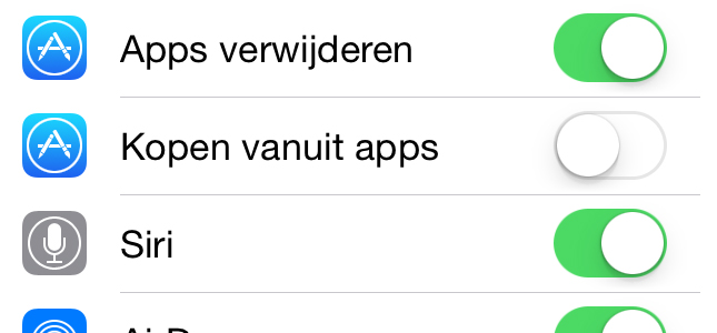 Waarschuwing in iOS 7.1 over in-app aankopen
