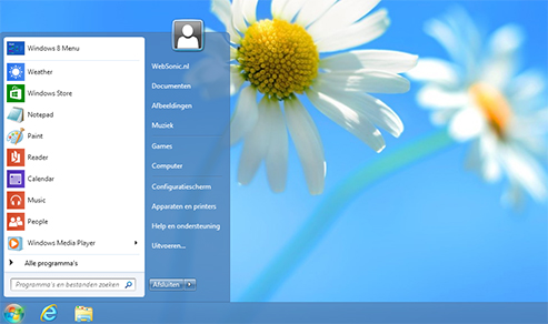Pc tips windows 8 startknop en menu start weer terug for Windows 8 bureaublad